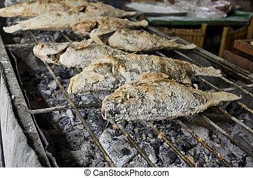 Thai Food, Salt-Crusted Grilled Fish