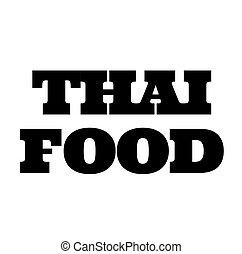 thai food stamp on white
