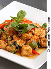 Thai Food Tofu Stir Fry