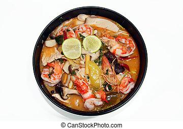 Thai food Tomyum shrimp with lemon - Thai food tomyum shrimp...