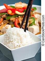 Thai Food with Jasmine Rice