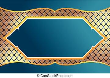 Thai Frame Luxury Design Background Vector