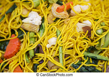 Thai fry noodles with vegetable