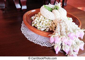 Thai garland colorful flower