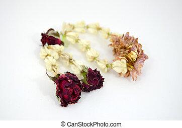Thai Garland dry flower handcraft