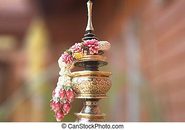 Thai garland is handmade of thailand.