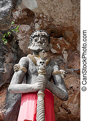 thai giant statue in yala cave temple, thailand