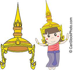 Thai girl dancing