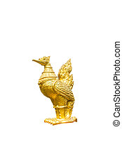 Thai golden swan statue