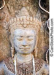 Head shot Thai graven image .