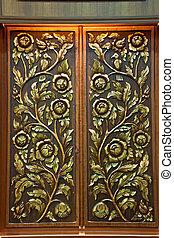thai handmade native pattern woodcraft