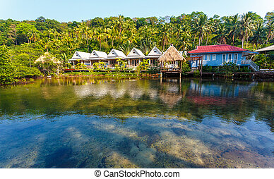 Thai house on the water