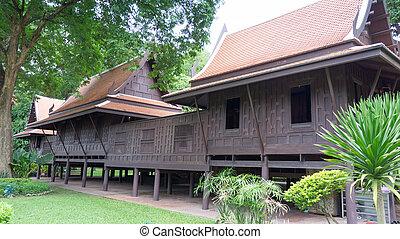 Thai house village
