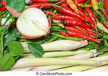 Thai ingredient food for soup