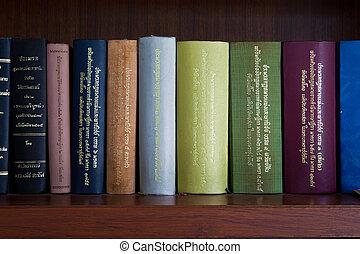 thai, juridisk bog, hylde