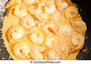 Thai King prawn curry in coconut sauce