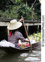 thai, kvinna
