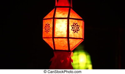 Thai lanterns Yee peng festival - Thai style Paper lanterns...