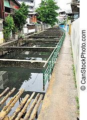 Thai local dirty canal