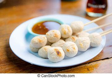 Thai Meatball in dish