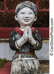 Thai Mountaineer Woman , Clay Thai Art