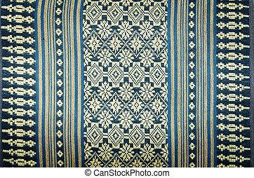 thai native hand made cotton texture background