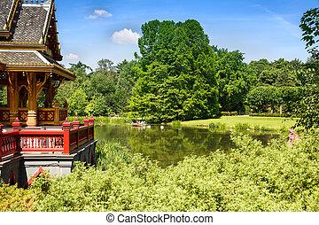 Thai pagoda in park