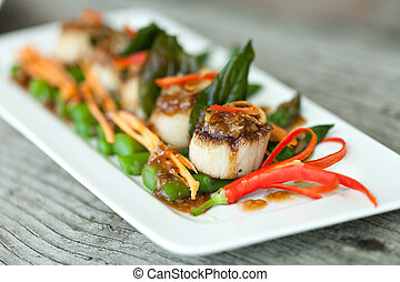 Thai Pan Seared Scallops