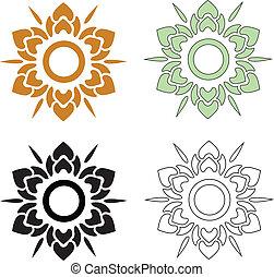 Thai pattern flower