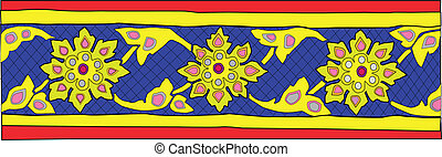 Thai pattern graphic - creative pattern vector,EPS10