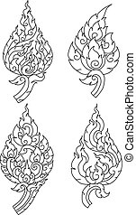 Thai pattern graphic, vector, EPS10