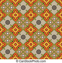 Thai pattern graphic , vector, EPS10 Version
