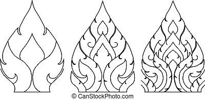 Thai pattern graphic
