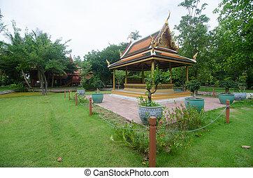 Thai pavilion at King Memorial Park King Rama II ,...