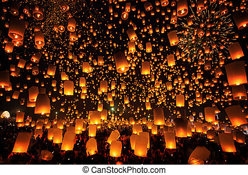 Tudongkasatarn is where floating lamp ceremony - Thai people...