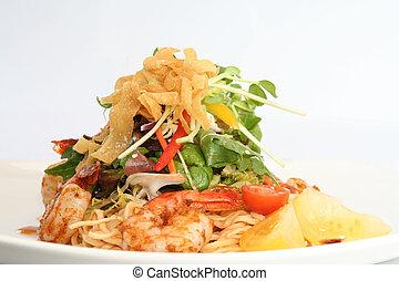 Thai prawn salad,