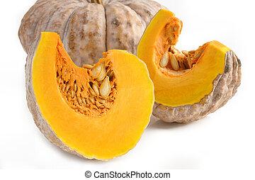 Thai pumpkin on white background