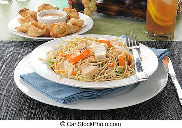 Thai Salad with crab rangoon
