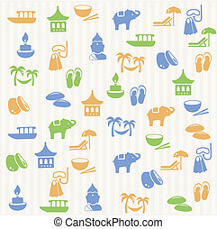 Thai seamless pattern