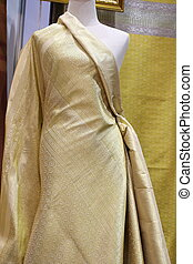 Thai silk fabric, texture background