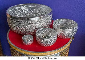 Thai Silver Bowl Set