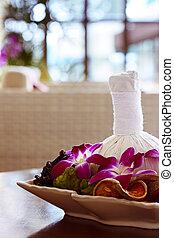 Thai spa massage decor