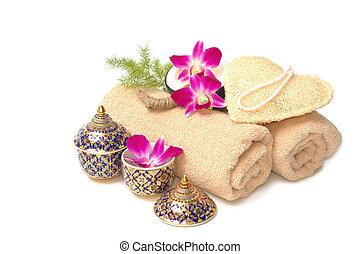 Thai spa massage setting
