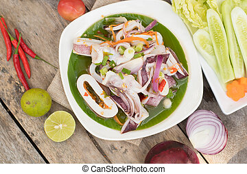 Thai Spicy Squid Salad