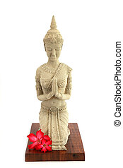 Thai statue isolated - travel and tourism.