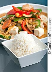 Thai Stir Fry and Jasmine Rice - Fresh Thai food stir fry ...
