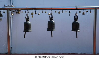 Thai Style Bells In Temple