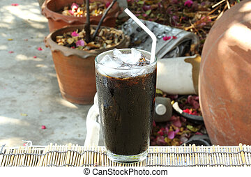 Thai style black coffee