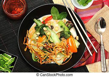 Thai-Style Coconut and Lemongrass Wonton Soup