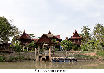 thai style home - thai style home in supanburi province,...
